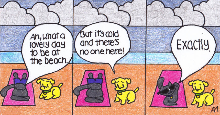 Beach Day (comic) Anna Macias